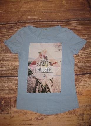 Размер s, хлопковая футболка с принтом вело