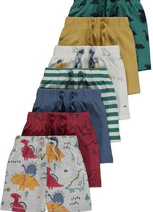 Новые шорты george с принтом динозаврики 9-12, 12-18