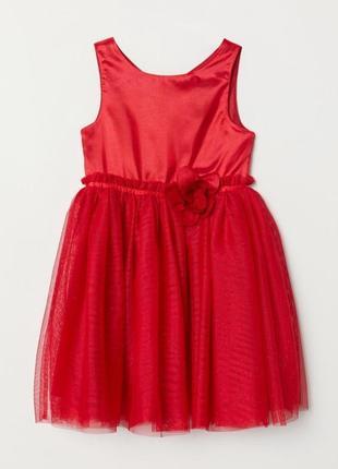 Нарядное красивое платье и туфельки h&m
