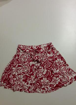 Фирменная легкая трикотажная яркая юбка