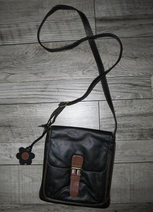 Кожаная сумка кроссбоди