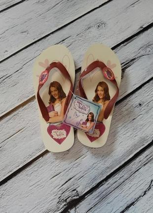 Шлепки шлепанцы вьетнамки сланцы обувь для пляжа пляжные босоножки disney виолетта