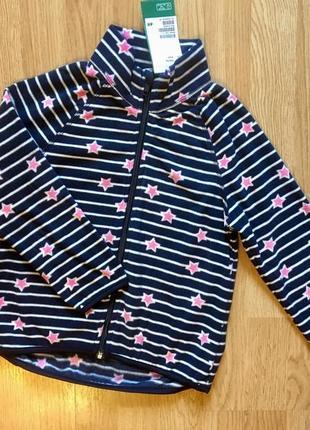 Флиска, флисовая кофта, худи на молнии для девочки h&m, р. 4-6 и 6-8 лет