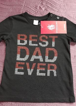 Стильная хлопковая футболка для мальчика