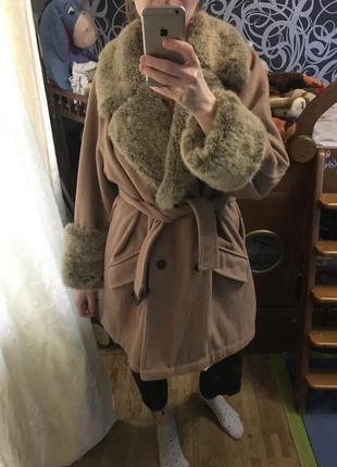Шикарное пальто халат  шерсть кашемир!