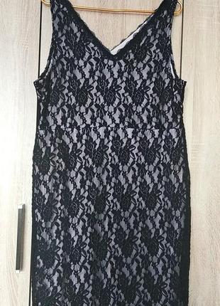Шикарное гипюровое платье сукня плаття большого размера 56-58