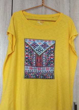 Стильная натуральная футболка большого размера 58-60