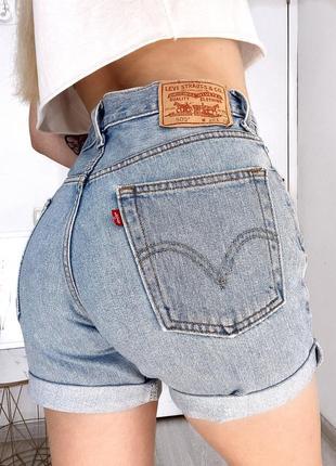 Levi's шорты джинсовые летние высокая посадка