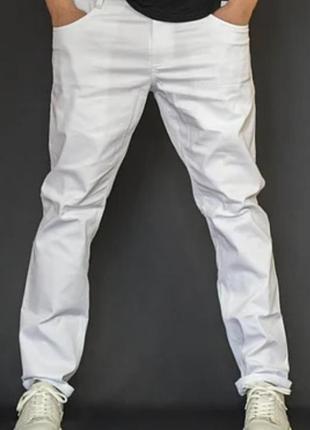 Мужские брюки из хлопковой ткани белые esprit р. 48-50 (34/32) германия