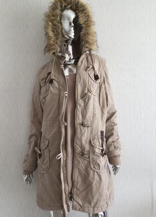 Парка пальто с капюшоном edc by esprit