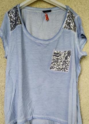 Женская футболка цвет джинс