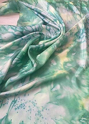 Шёлковый платок зелень
