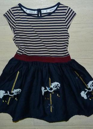 Платье с лошадками junior j 18-24 мес