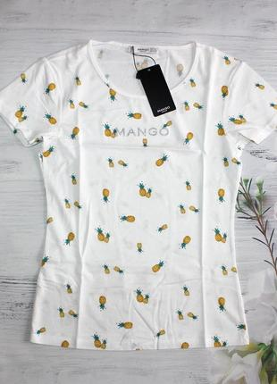Трендова футболка з лого мango xs