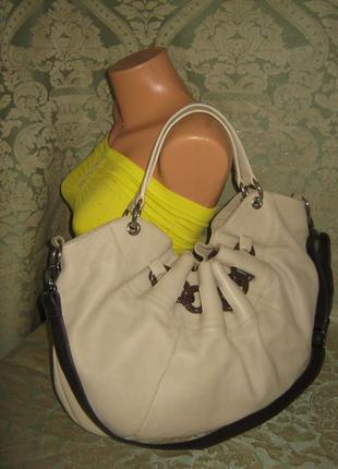 Furla оригинал итальянская большая кожаная сумка торба италия кожа 100% натуральная