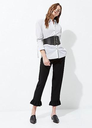 Крутая базовая оверсайз рубашка в полоску и завязками на рукавах 🔥