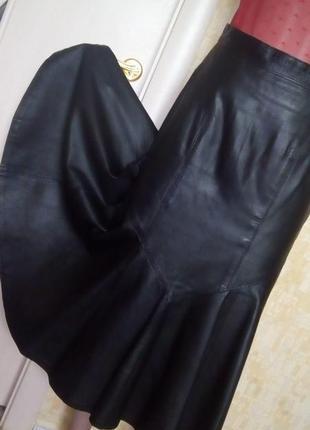 Шикарная 100% кожаная юбка/кожаная юбка/юбка/платье/сарафан