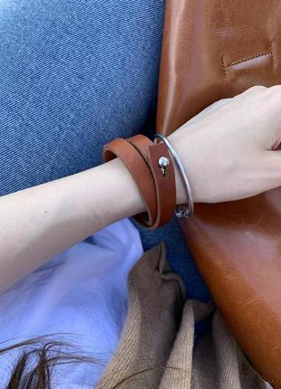 Двойной рыжий браслет