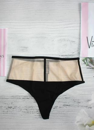Трусики з преміум коллекції victoria's secret luxe lingerie high-waist s m