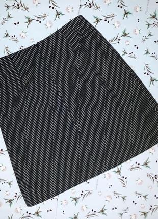 🎁1+1=3 стильная плотная черная короткая юбка со складками dickins&jones, размер 46 - 483 фото