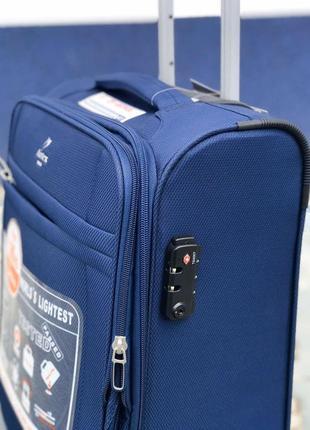 Ульра легкий! текстильный синий чемодан для ручной кладь франция2 фото