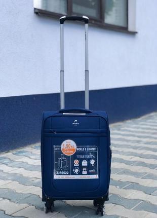 Ульра легкий! текстильный синий чемодан для ручной кладь франция