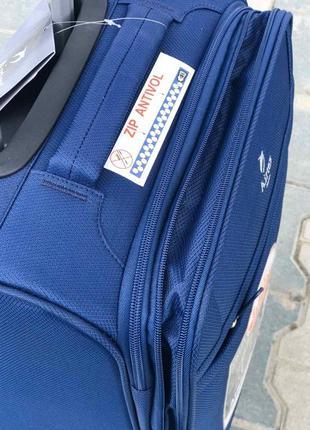 Ульра легкий! текстильный синий чемодан для ручной кладь франция3 фото