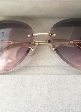 Авиаторы очки, без оправы, градиент, тренд сезона 2020