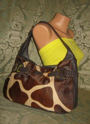 Adrienne vittadini итальянская большая кожаная сумка 100% натуральная кожа италия