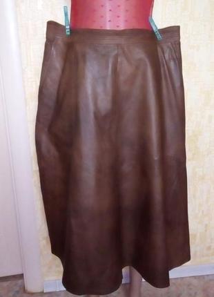 Крутая длинная 100% кожаная юбка/кожаная юбка/юбка/платье/сарафан