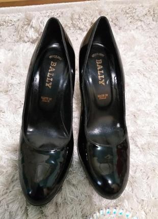 Lux туфли bally кожа лак