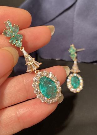 Вау красота нано кристалы  цвет зелено голубой неон