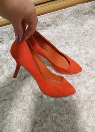 Туфли лодочки тканевые