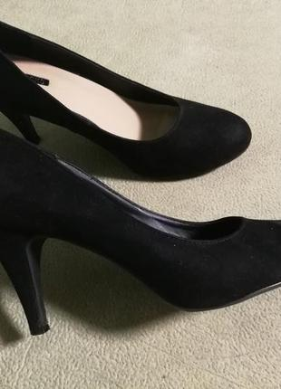 Черные туфли  peacocks,класика