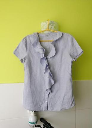 Льняная блузка блуза рубашка maddison