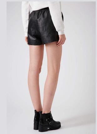 Короткие летние шорты под кожу topshop
