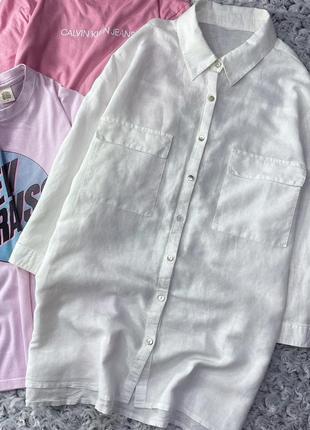 Базовая льняная рубашка c&a