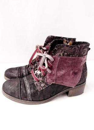 Стильные итальянские ботинки charme на шнурках и молнии. размер uk4 eur 37.