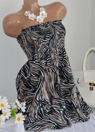 Брендовое короткое мини платье туника e-vie индия бисер коттон этикетка