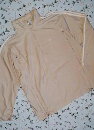 🎁1+1=3 женская бежевая стильная спортивная куртка анорак adidas, размер 54 - 56