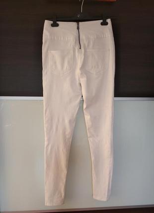 Белые летние штаны джеггинсы скинни pieces