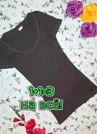🎁1+1=3 базовая серая удлиненная футболка danza, размер 42 - 44