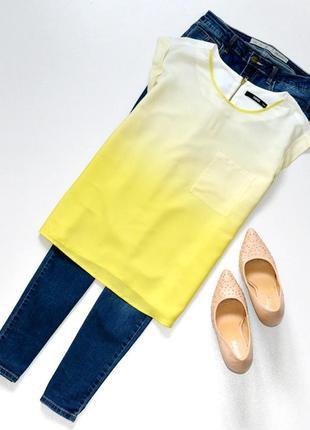 Стильная красивая легкая блуза с градиентом