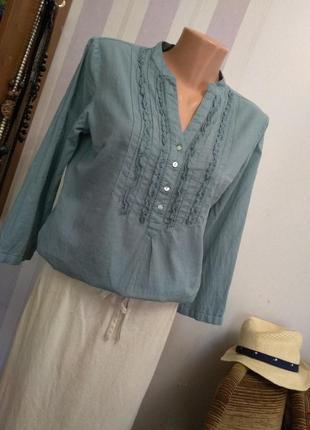 Шикарная брендовая блузка, в стиле рустик, этно бохо стиль, винтажный стиль, хлопок