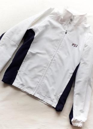 Куртка спортивная ветровка белая fila