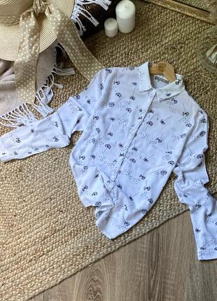 Рубашка в принт одуванчик