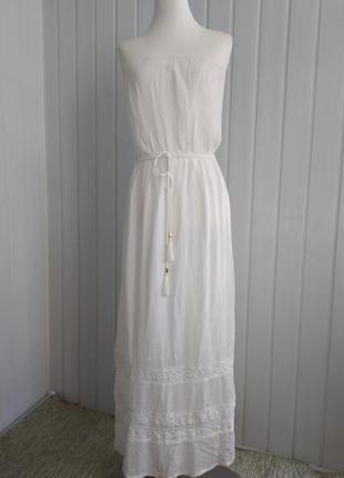 Платье-бандо с мережкой accessorize xs