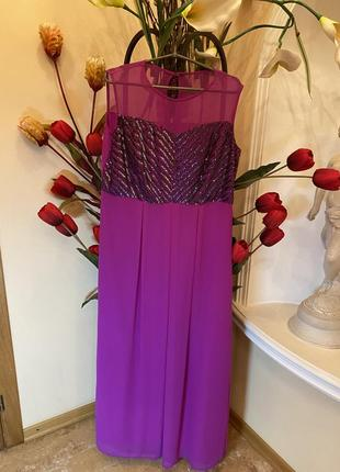 Вечернее платье в стразах разм  16
