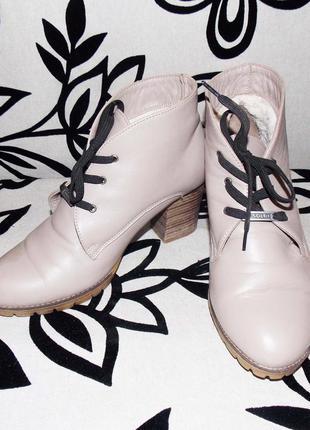 Зимние кожаные ботинки soldi