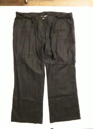 Фирменные льняные брюки штаны